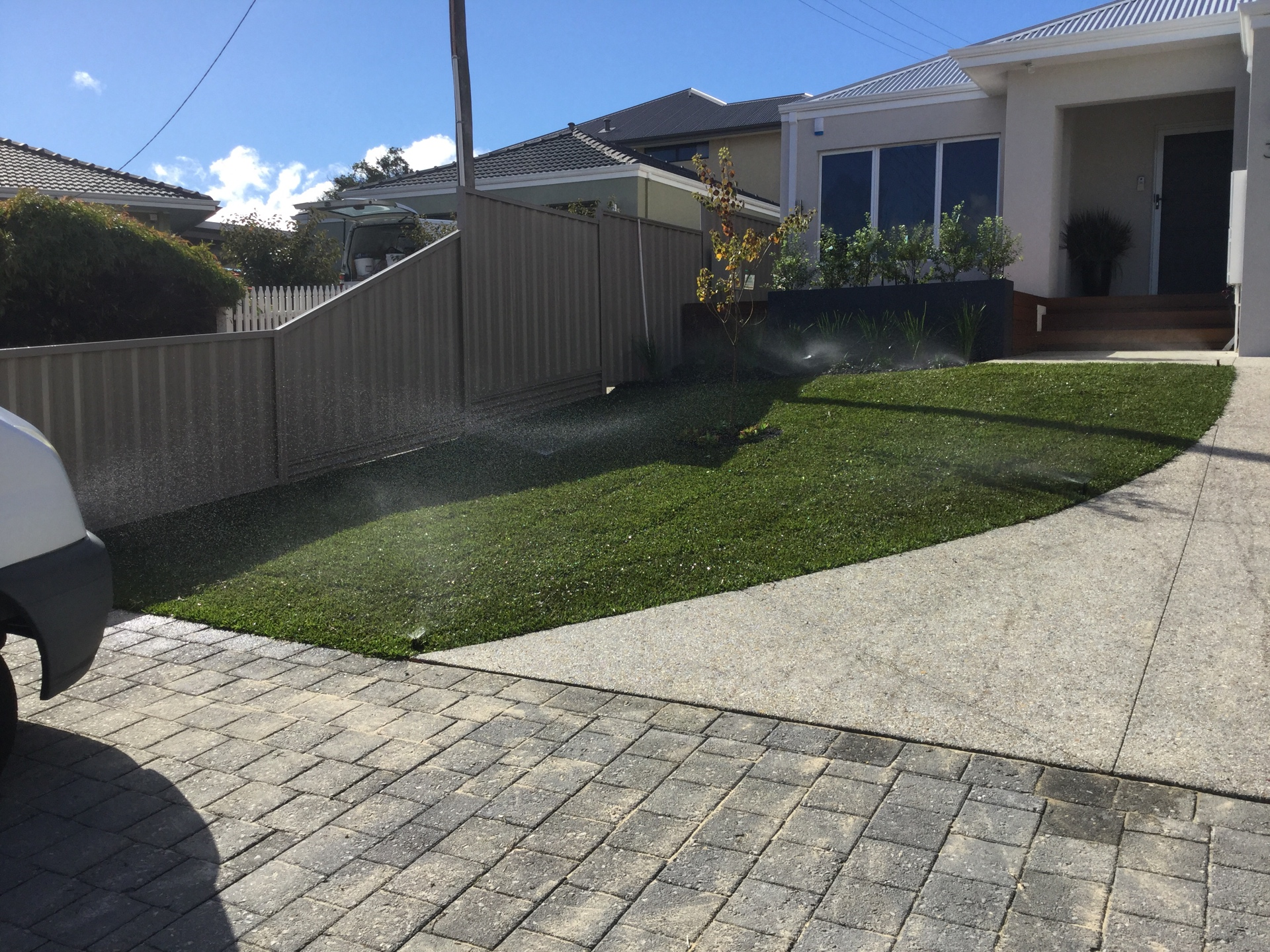 Reticulation that does what it is meant to do promotes happiness! Reticulation Happiness is: Well designed reticulation promotes a healthy lawns and gardens. K& K Reticulation services