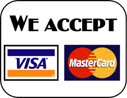 We accept Master Card & Visa Card over the phone payments.
